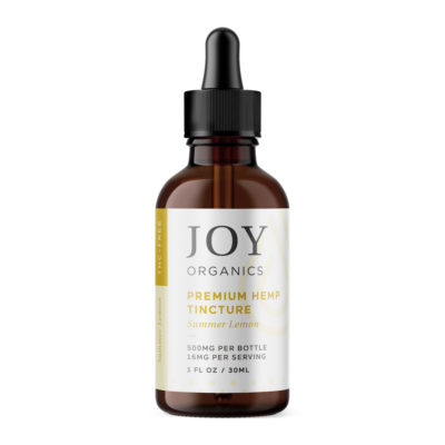 joy organics 500 mg summer lemon tincture