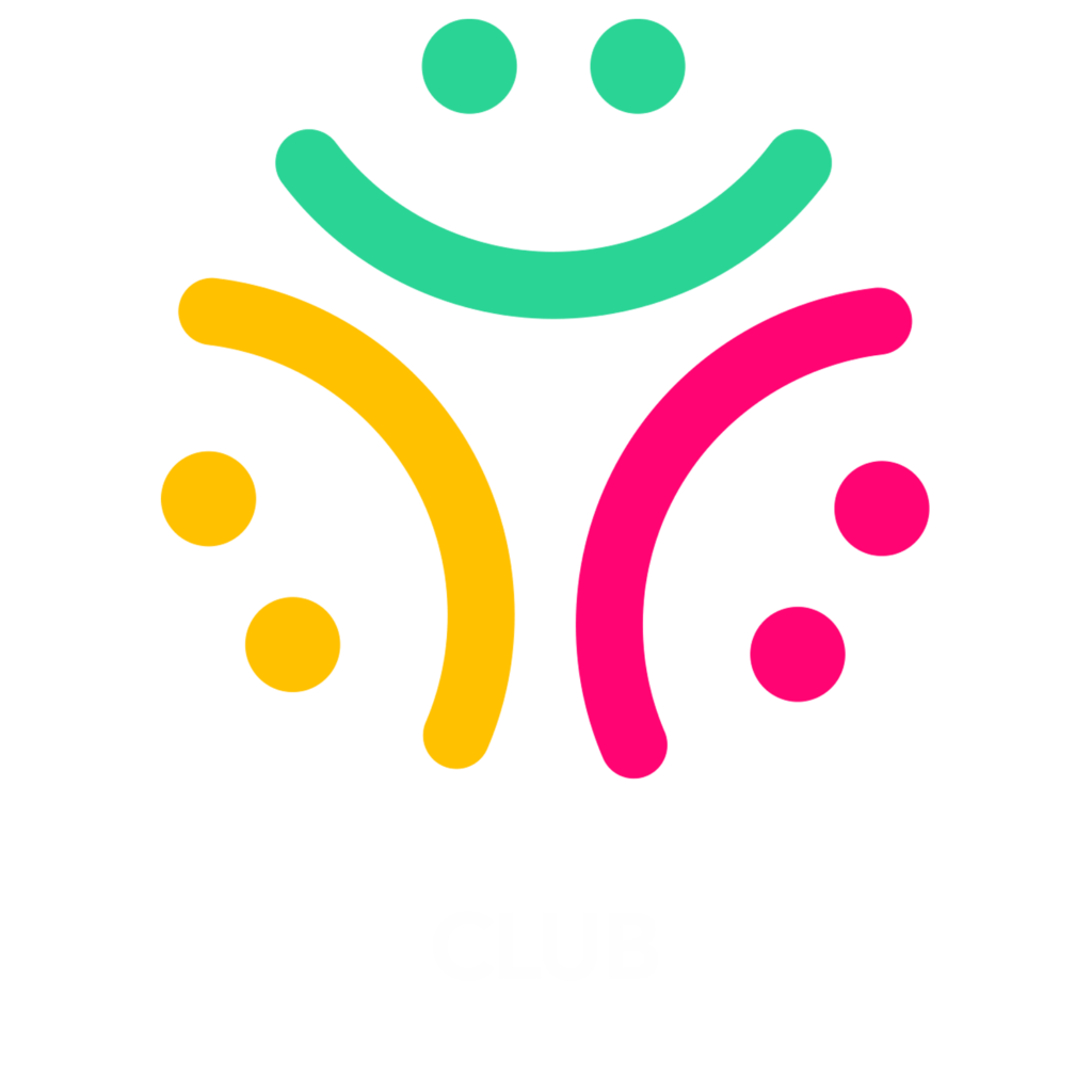 goodjujuclub logo with white text