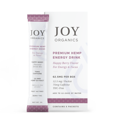 joy organics energy drink box with packet