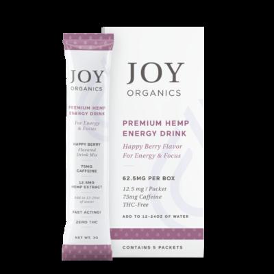 joy organics energy drink box with packet