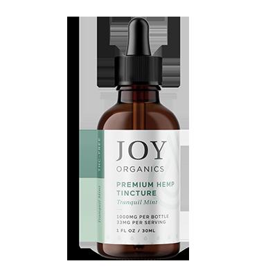 joy organics tincture mint 1000mg