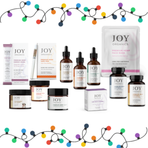 joy organics group of products holiday lights