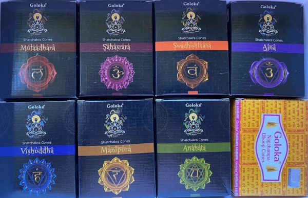 chakra incense collection