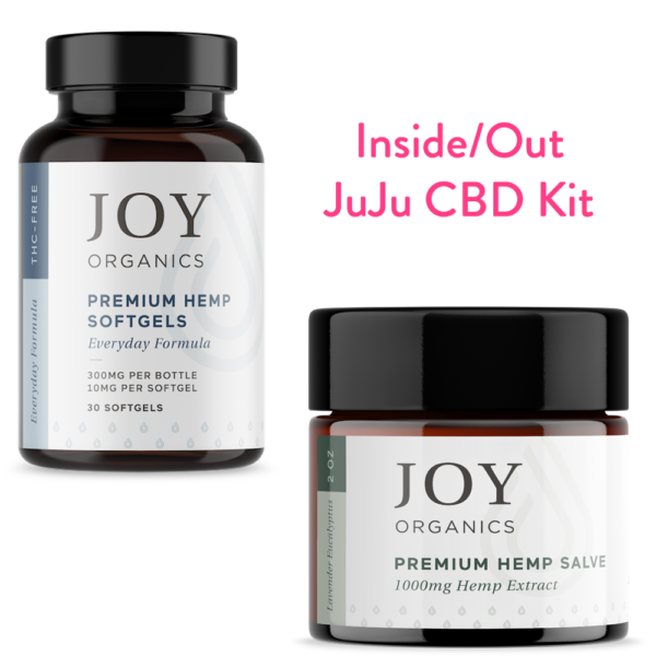 inside out CBD bundle with softgels and salve