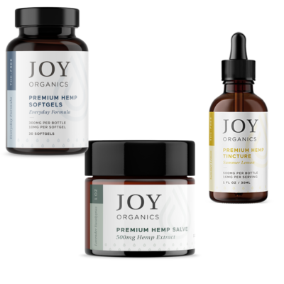 joy bundle with tincture salve softgels