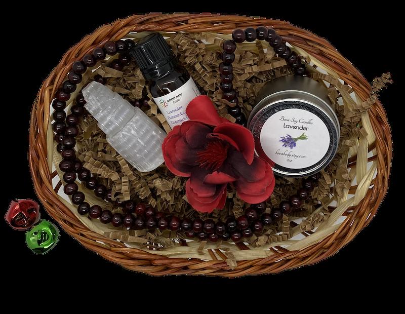 mini meditation gift basket top down 1