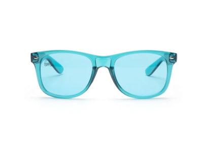 aqua glasses front