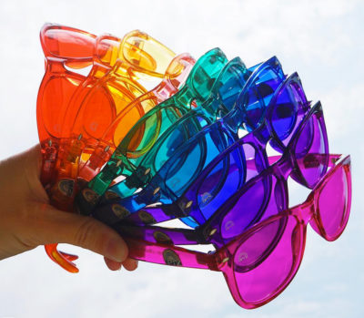 color therapy glasses set