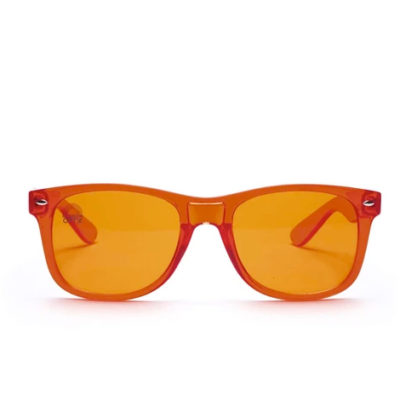 orange glasses front