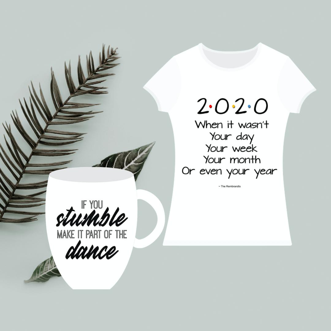 Printed items mug shirt