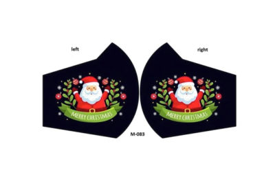 ugly christmas mask santa both sides