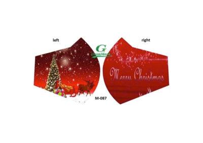 ugly christmas mask sleigh and other side merry christmas